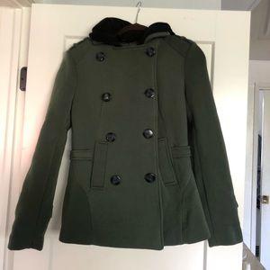 JouJou green peacoat with hood
